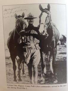 1940s Colonel Otto Wagner, the first commander of Camp Polk,. This photo showcases the different types of horses who served the Army .