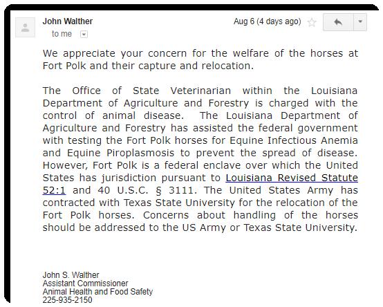 LDAF Letter Response